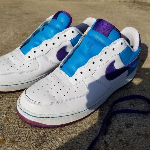 Nike Air Force Kinder Basketball Schuhe (Laser Hochrote|blau